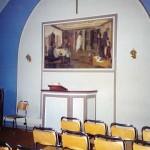 Maleriet over talerstolen i det gamle bedehuset (c) Ingunn Haaheller