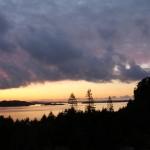 Stavanger i bakgrunnen
